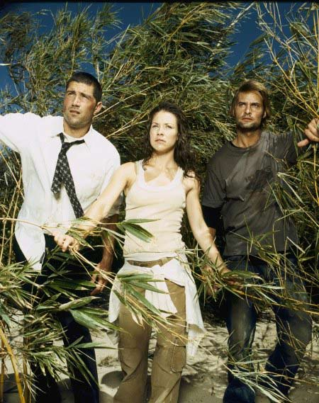 "<div class=""meta ""><span class=""caption-text "">Jack Bender is nominated for a Directors Guild 'Dramatic Series' Award for his work on 'Lost' - 'The End, Part 1&2.' (Pictured: Matthew Fox, Evangeline Lilly and Josh Holloway in a still from 'Lost.') (Photo courtesy of ABC)</span></div>"