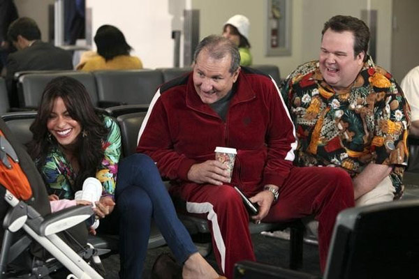 Steve Levitan is nominated for a Directors Guild &#39;Comedy Series&#39; Award for his work on &#39;Modern Family&#39;- &#39;Hawaii.&#39; &#40;Pictured: Sofia Vergara, Ed O&#39;Neill and Eric Stonestreet in a still from &#39;Modern Family.&#39;&#41; <span class=meta>(Photo courtesy of ABC)</span>