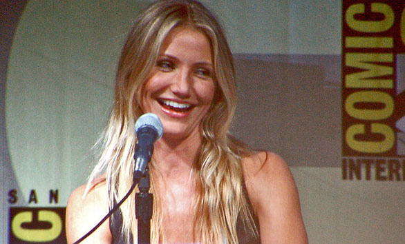 Cameron Diaz appears at San Diego Comic-Con in 2009.