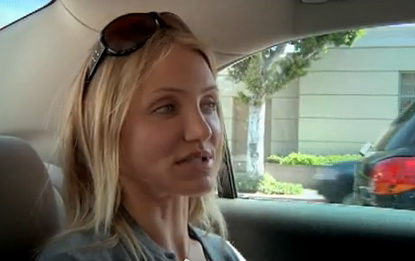 Cameron Diaz appears in the 2009 video 'Cameron Diaz Saves The World!'