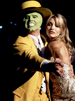 Cameron Diaz was discovered in the late 1980s by a photographer at a Hollywood party, who, within a week, helped her land a contract with the Elite Modeling Agency. At age 21, she made her feature film debut in the 1994 movie &#39;The Mask,&#39; playing bombshell Tina alongside Jim Carrey&#39;s character, Stanley Ipkiss. &#40;Pictured: Cameron Diaz and Jim Carrey appear in the 1994 movie &#39;The Mask.&#39;&#41; <span class=meta>(New Line Cinema)</span>