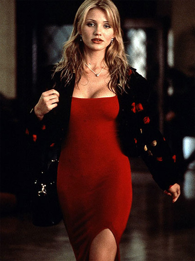 Cameron Diaz, who rose to fame as a sex symbol after playing bombshell Tina in the 1994 movie &#39;The Mask,&#39; told Maxim magazine in a June 2011 interview that her favorite word is &#39;sex,&#39; adding: &#39;Just the word is sexy to me. There&#39;s something to it.&#39; &#40;Pictured: Cameron Diaz appears in a scene from the 1994 movie &#39;The Mask.&#39;&#41; <span class=meta>(New Line Cinema)</span>