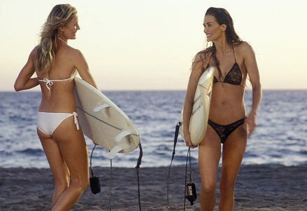 Cameron Diaz and Demi Moore appear in a scene from the 2003 movie 'Charlie's Angels: Full Throttle.'