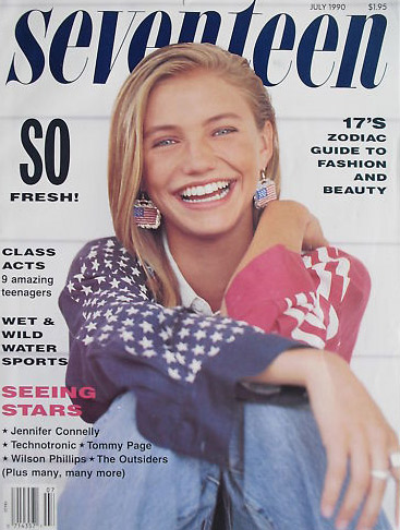 Born in San Diego, California, Cameron Diaz left school at age 16 to become a model and for the next five years traveled the globe. She worked in Japan, Australia, Mexico, Morocco, and Paris.  &#40;Pictured: Cameron Diaz appears on the cover of Seventeen magazine&#39;s July 1990 issue.&#41; <span class=meta>(Seventeen magazine)</span>