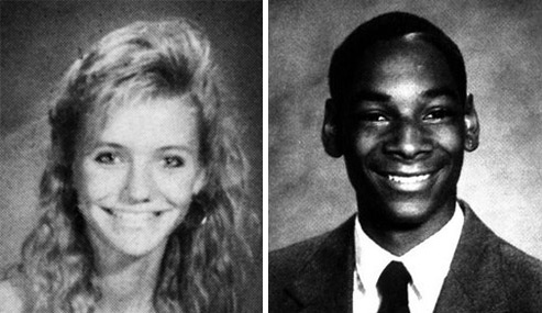 Pictured: The yearbook photos of Cameron Diaz and Snoop Dogg.