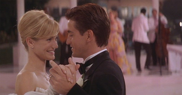 Cameron Diaz and Dermot Mulroney appear in a scene from the 1997 movie 'My Best Friend's Wedding.'