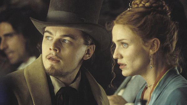 Leonardo DiCaprio appears alongside Cameron Diaz in the 2002 film 'Gangs of New York.'