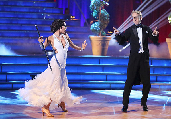 "<div class=""meta image-caption""><div class=""origin-logo origin-image ""><span></span></div><span class=""caption-text"">Actor and comedian Andy Dick and his partner Sharna Burgess received 17 out of 30 points from the judges for their Foxtrot routine on the season 16 premiere of 'Dancing With The Stars,' which aired on March 18, 2013 (ABC Photo / Adam Taylor)</span></div>"