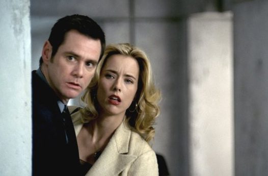 Jim Carrey and Tea Leoni appear in a scene from...