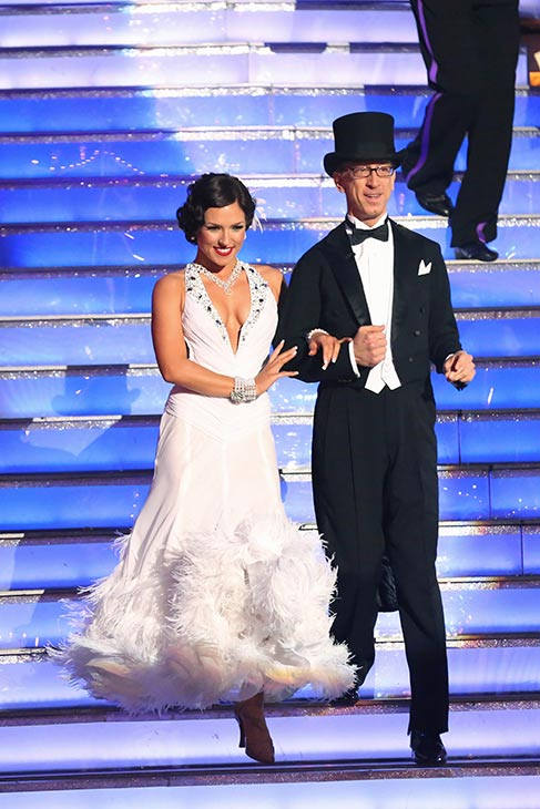 "<div class=""meta ""><span class=""caption-text "">Actor and comedian Andy Dick and his partner Sharna Burgess prepare to dance on the season 16 premiere of 'Dancing With The Stars,' which aired on March 18, 2013. They received  17 out of 30 points from the judges for their Foxtrot routine. (ABC Photo / Adam Taylor)</span></div>"