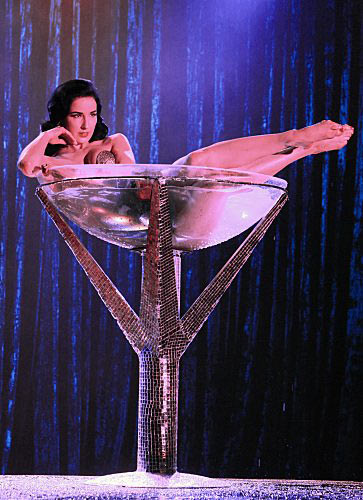 (Pictured: Dita Von Teese appears in a still from 'CSI: Crime Scene Investigation.')