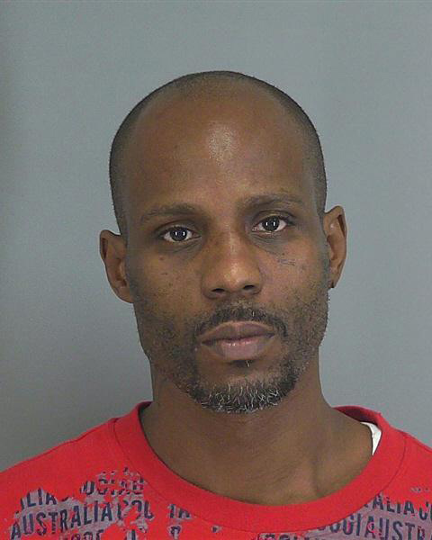 Rapper DMX, real name Earl Simmons, appears in a mug shot provided by the Spartanburg County Sheriff's Office after he was arrested for driving without a license in Greer, South Carolina on Feb. 13, 2013.