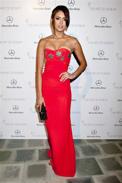 "<div class=""meta ""><span class=""caption-text "">Nina Dobrev of 'The Vampire Diaries' appears at Art Of Elysium's 7th annual Black Tie Charity Gala in Los Angeles on Jan. 11, 2014. (Justin Campbell / startraksphoto.com)</span></div>"