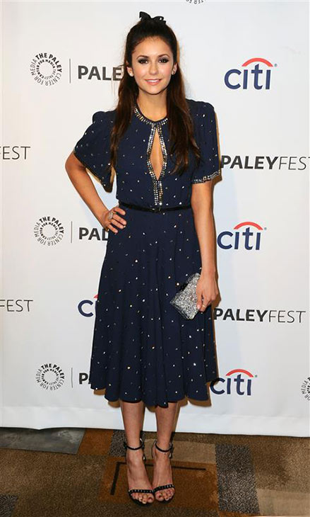 Nina Dobrev of the CW show 'The Vampire Diaries' appears at a PaleyFest event celebrating the series at the Dolby Theatre in Hollywood on March 22, 2014.