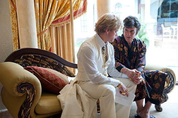 Michael Douglas appears as Liberace and Matt Damon appears as his lover, Scott Thorson, in the HBO film 'Behind the Candelabra.' The movie premiered on May 26, 2013.