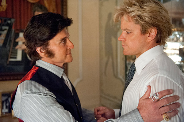 Michael Douglas appears as Liberace and Matt Damon appears as his lover, Scott Thorson, in the HBO film &#39;Behind the Candelabra.&#39; The movie premiered on May 26, 2013. <span class=meta>(Claudette Barius &#47; HBO)</span>
