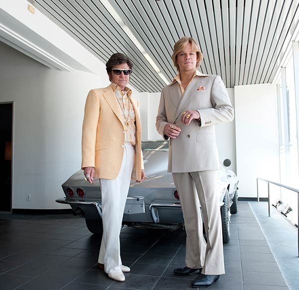 Michael Douglas appears as Liberace and Matt Damon appears as his lover, Scott Thorson, in a publicity photo for the HBO film 'Behind the Candelabra.' The movie premiered on May 26, 2013.