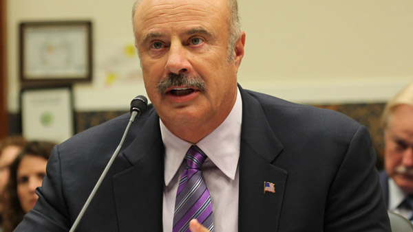 Dr. Phil McGraw appears in a photo answering questions at a hearing on ensuring student cyber safety in June 2010.