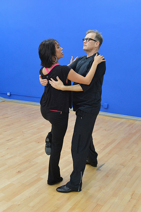 "<div class=""meta image-caption""><div class=""origin-logo origin-image ""><span></span></div><span class=""caption-text"">'Dancing With The Stars' celebrity contestant Drew Carey appears with partner Cheryl Burke at a reheasal before the season 18 premiere of the ABC show on March 17, 2014. (ABC Photo / Rick Rowell)</span></div>"