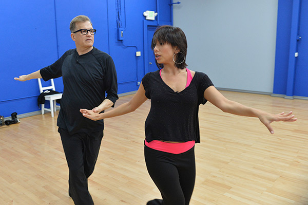 "<div class=""meta ""><span class=""caption-text "">'Dancing With The Stars' celebrity contestant Drew Carey appears with partner Cheryl Burke at a reheasal before the season 18 premiere of the ABC show on March 17, 2014. (ABC Photo / Rick Rowell)</span></div>"