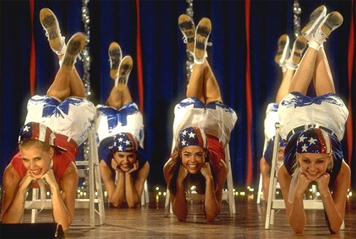 Amy Adams, Denise Richards, Brittany Murphy and Kirsten Dunst appear in a scene from the 1999 comedy film 'Drop Dead Gorgeous.'