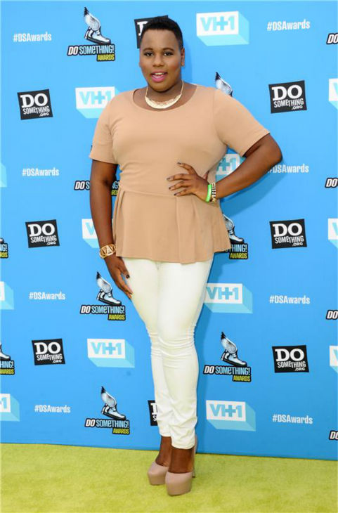 Alex Newell (Unique on 'Glee') attends the 2013 Do Something Awards in Hollywood, California on July 31, 2013.