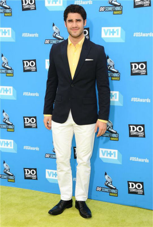 Darren Criss (Blaine on 'Glee') attends the 2013 Do Something Awards in Hollywood, California on July 31, 2013.