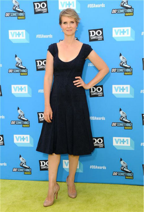 Cynthia Nixon ('Sex and the City') attends the 2013 Do Something Awards in Hollywood, California on July 31, 2013.