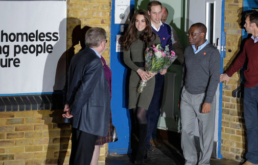 The Duke and Duchess of Cambridge, Prince William and Kate, leave Centrepoint in Camberwell after a visit to the homelessness charity on Dec. 21, 2011. <span class=meta>(Prince of Wales Media Centre)</span>