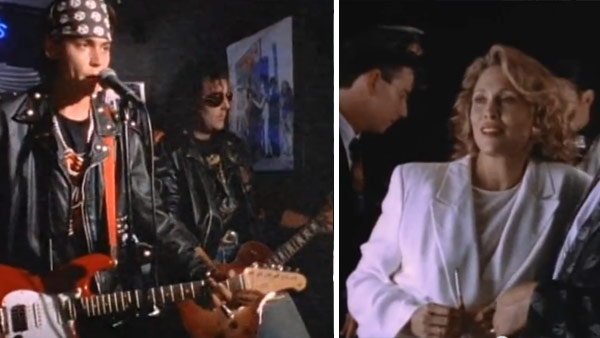 Johnny Depp and Faye Dunaway appear in Tom Petty and the Heartbreakers&#39; music video &#39;Into The Great Wide Open,&#39; released in 1991. Depp appears in the video as a young high school graduate named Eddie who heads to Hollywood and becomes a famous rock star. The stardom eventually goes to Eddie&#39;s head, and his career fizzles along with his life. <span class=meta>(MCA)</span>