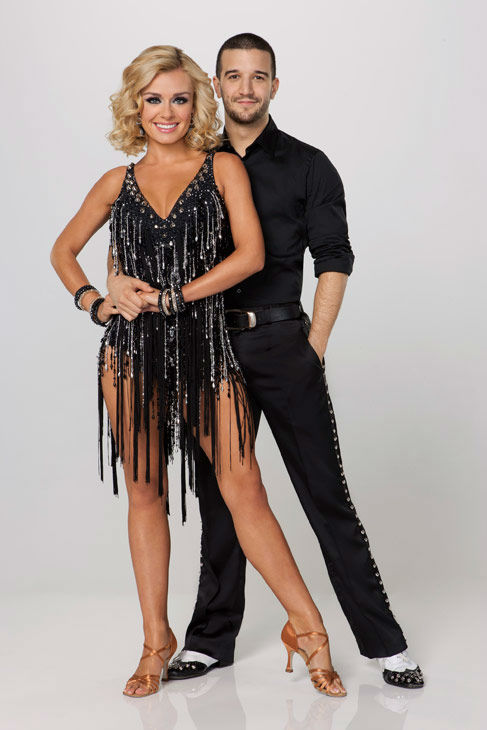 Opera star Katherine Jenkins appears with two-time champ Mark Ballas in an official cast photo for