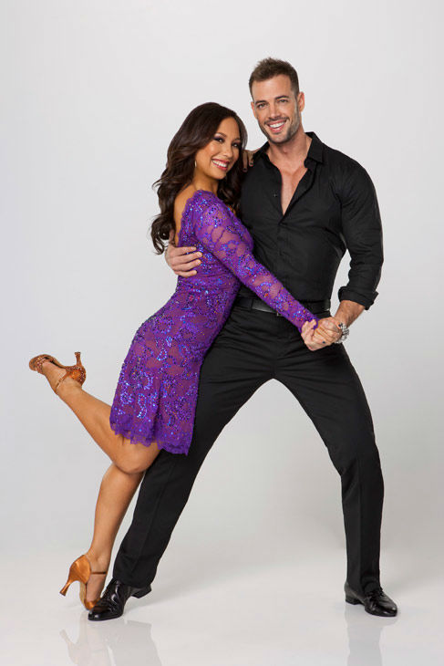 Telenovela star and model William Levy appears with two-time champ Cheryl Burke in an official cast photo for 'Dancing With The Stars' season 14.