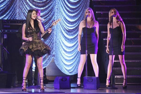 Selena Gomez and her band, The Scene, also hit the dancing with the stars stage to perform their hit single &#39;Hit the Lights&#39; on &#39;Dancing With The Stars: The Results Show&#39; on Tuesday, April 17, 2012.  <span class=meta>(ABC Photo)</span>