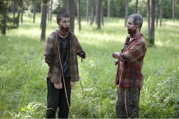 "<div class=""meta ""><span class=""caption-text "">Actors dressed as Walkers appear on the set of AMC's 'The Walking Dead's season 4 midseason premiere, titled 'After,' which aired on Feb. 9, 2014. (Gene Page / AMC)</span></div>"