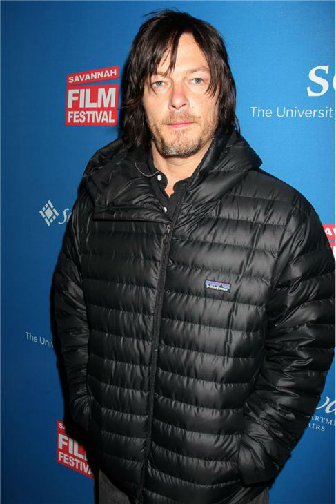 The &#39;Modeling-The-Walker-Deterrent-Fall-2013-Collection&#39; stare: Norman Reedus attends the opening night of the 2013 Savannah Film Festival, hosted by the Savannah College of Art and Design, on Oct. 26, 2013. <span class=meta>(Dave Allocca &#47; Startraksphoto.com)</span>