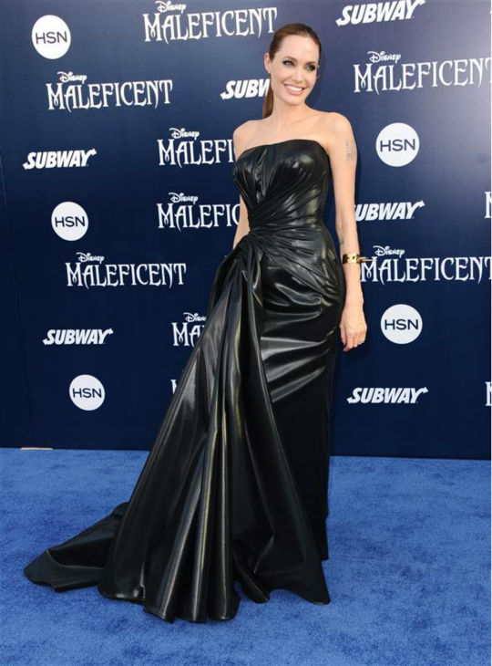Angelina Jolie attends the premiere of Disney&#39;s &#39;Maleficent&#39; in Hollywood, California on May 28, 2014. <span class=meta>(Sara De Boer &#47; Startraksphoto.com)</span>