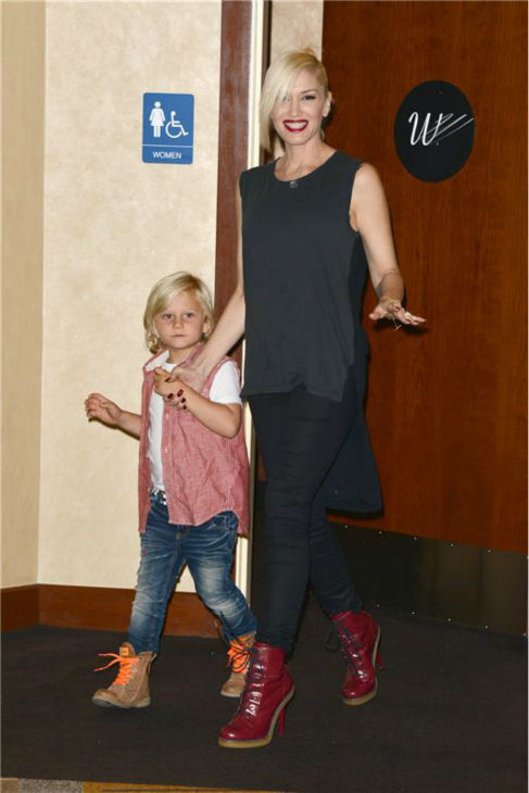 Gwen Stefani and son Zuma a