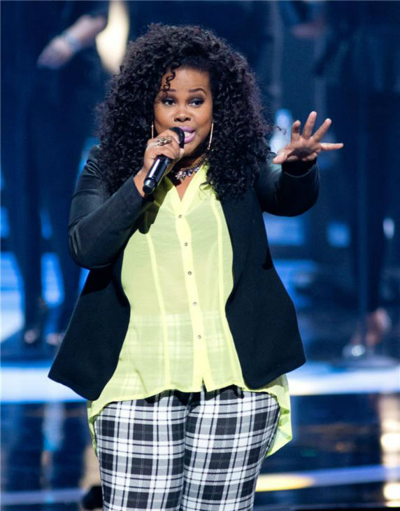 Amber Riley performs at BET&#39;s 2013 Black Girls Rock event at the New Jersey Performing Arts Center in Newark, New Jersey on Oct. 26, 2013. <span class=meta>(Marcus Owen &#47; Startraksphoto.com)</span>