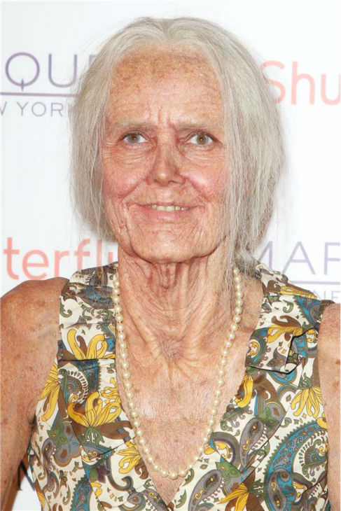 Heidi Klum, dressed in an elderly woman costume, appears on the red carpet at her 14th annual Halloween party, held at the Marquee nightclub in New York on Oct. 31, 2013. <span class=meta>(Amanda Schwab &#47; Startraksphoto.com)</span>