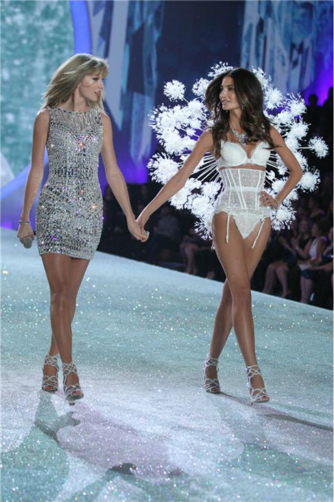 "<div class=""meta ""><span class=""caption-text "">Taylor Swift performs on the runway at the 2013 Victoria's Secret Fashion Show at the Lexington Armory in New York on Nov. 13, 2013. Pictured on the right: Supermodel Lily Aldridge. (Humberto Carreno / Startraksphoto.com)</span></div>"