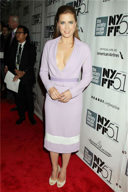 Amy Adams attends the closing night gala presentation of 'Her. A Spike Jonze Love Story' at the 2013 New York Film Festival on Oct. 12, 2013.