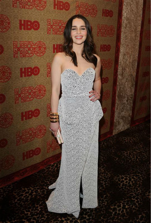 Emilia Clarke &#40;Daenerys Targaryen on HBO&#39;s &#39;Game Of Thrones&#39;&#41; appears at HBO&#39;s 2014 Golden Globe Awards after party at the Circa 55 restaurant in Beverly Hills, California on Jan. 12, 2014. <span class=meta>(Tony DiMaio &#47; Startraksphoto.com)</span>