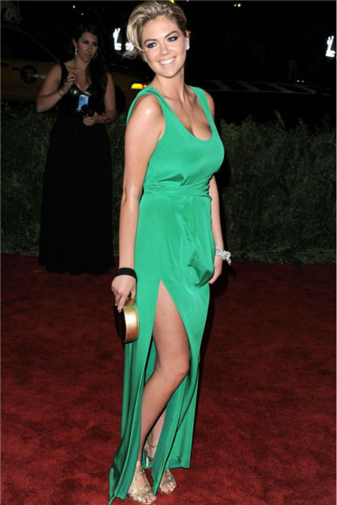 Kate Upton attends the &#39;PUNK: Chaos To Couture&#39; Costume Institute Gala at the Metropolitan Museum of Art in New York on May 6, 2013. <span class=meta>(Bill Davila &#47; Startraksphoto.com)</span>