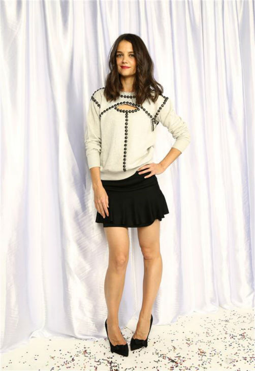 "<div class=""meta image-caption""><div class=""origin-logo origin-image ""><span></span></div><span class=""caption-text"">Katie Holmes poses in a holiday-themed photo booth at Z100's Jingle Ball 2013 on Dec. 13, 2013, just before Christmas. (Sara Jaye Weiss  / Startraksphoto.com)</span></div>"