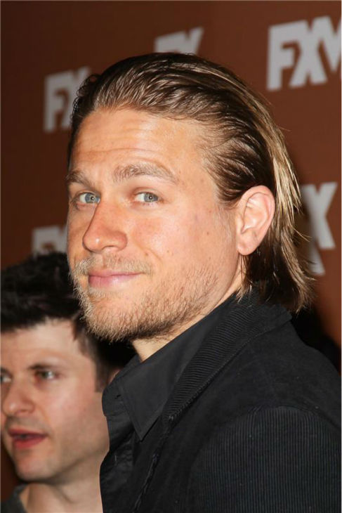 The &#39;My-Hair-Looks-Sexy-Pushed-Back&#39; stare: Charlie Hunnam attends the FX Upfronts presentation in New York on March 28, 2013. <span class=meta>(Kristina Bumphrey &#47; Startraksphoto.com)</span>