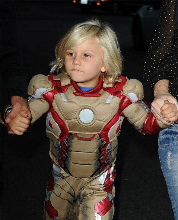 Gwen Stefani's and Gavin Rossdale's son Zuma is seen Trick-Or-Treating in Los Angeles on Oct. 31, 2013.