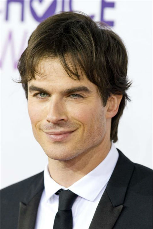 The &#39;Sun-Is-In-My-Eye-But-I-Won&#39;t-Let-That-Stop-Me&#39; stare: Ian Somerhalder appears at the 2013 People&#39;s Choice Awards in Los Angeles on Jan. 9, 2013. <span class=meta>(Justin Campbell &#47; Startraksphoto.com)</span>