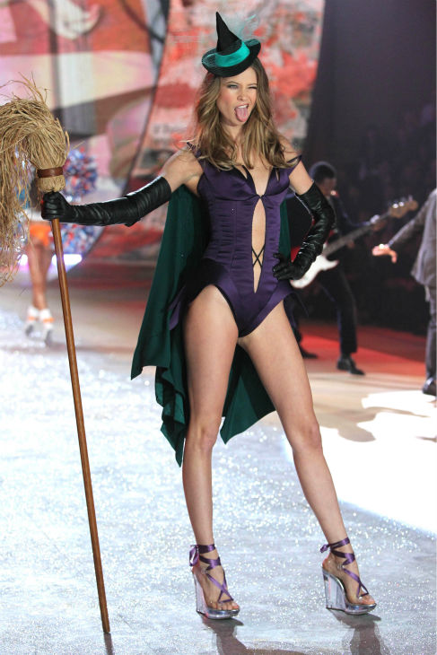 Behati Prinsloo walks the runway at the 2012 Victoria's Secret Fashion Show in New York City on Nov. 7, 2013.