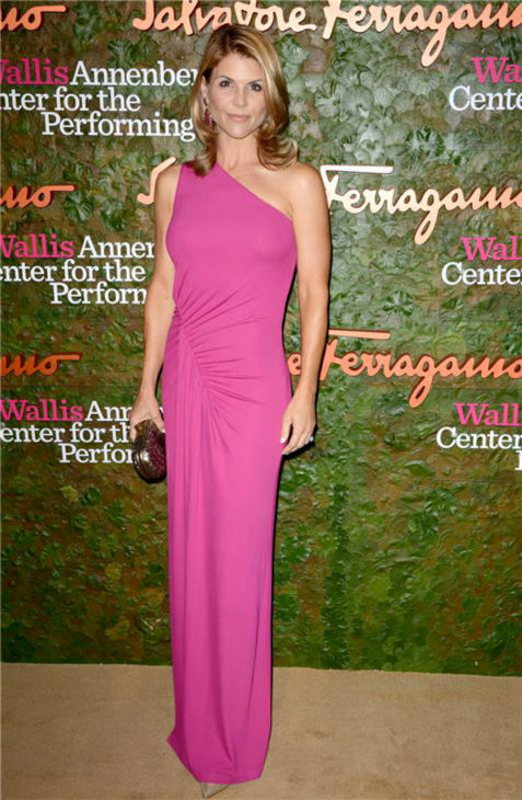"<div class=""meta ""><span class=""caption-text "">'Full House' and '90210' alum Lori Loughlin attends the Wallis Annenberg Center for the Performing Arts Inaugural Gala, presented by Salvatore Ferragamo, at the Wallis Annenberg Center in Beverly Hills on Oct. 17, 2013. (Lionel Hahn / AbacaUSA / Startraksphoto.com)</span></div>"