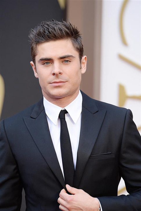 Zac Efron arrives at the 2014 Oscars in Hollywood on March 2, 2014.